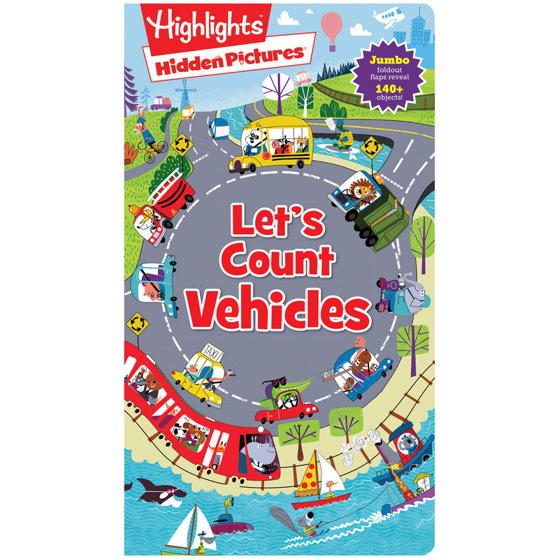 Foldout-fun Puzzle Books Lets Count Vehicles Highlights