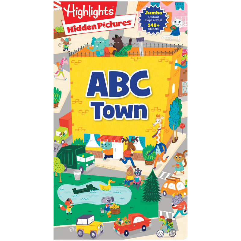 Foldout-fun Puzzle Books Abc Town Highlights