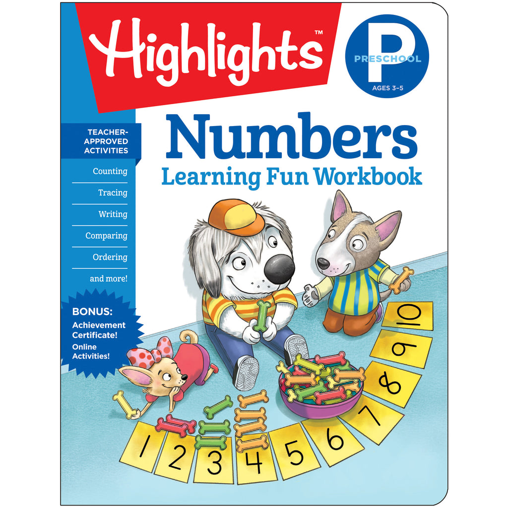 Learning Fun Workbooks Prek Numbrs Highlights