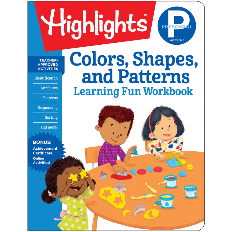 Preschool Colors Shapes & Patterns Learning Fun Workbooks Highlights