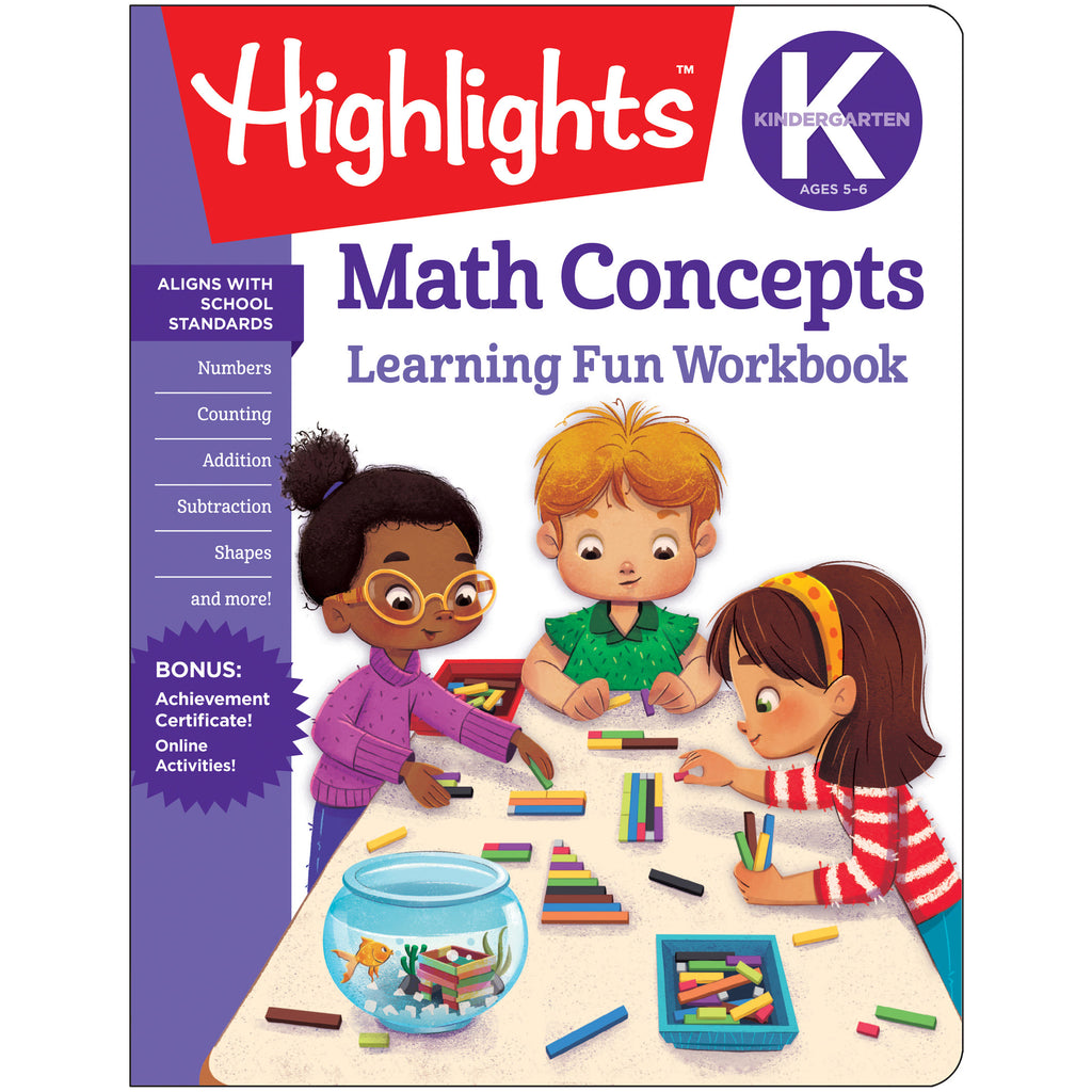 Kindergarten Math Concepts Learning Fun Workbooks Highlights