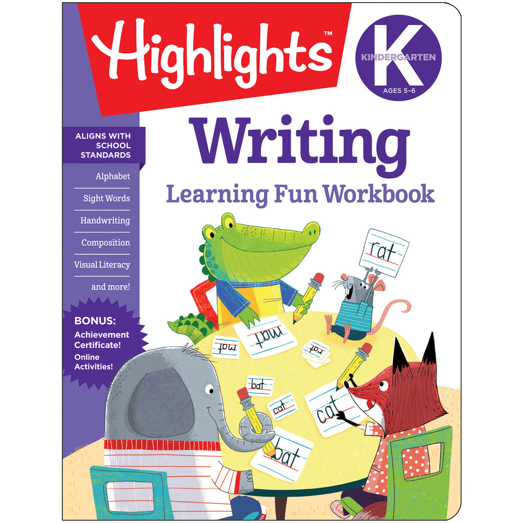 Learning Fun Workbooks Writing Highlights