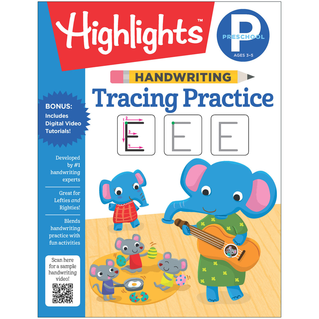 Preschool Handwriting Tracing Practice Highlights