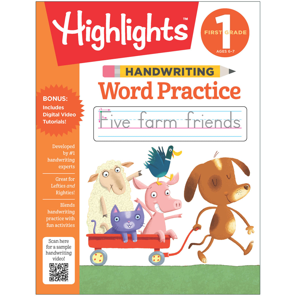 First Grade Handwriting Word Practice Highlights