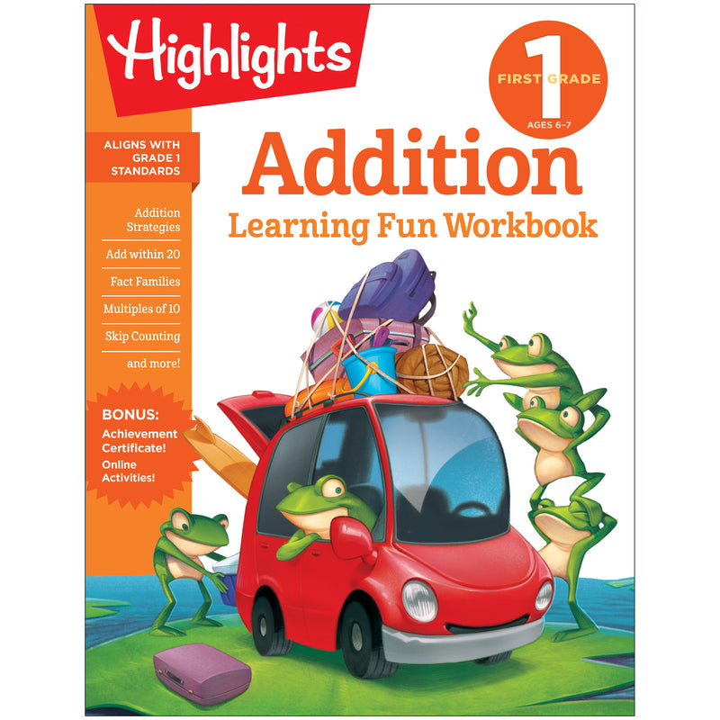 Learning Fun Workbooks First Grade Addition Highlights