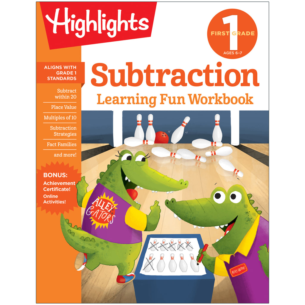Learning Fun Workbooks Gr 1 Subtraction Highlights