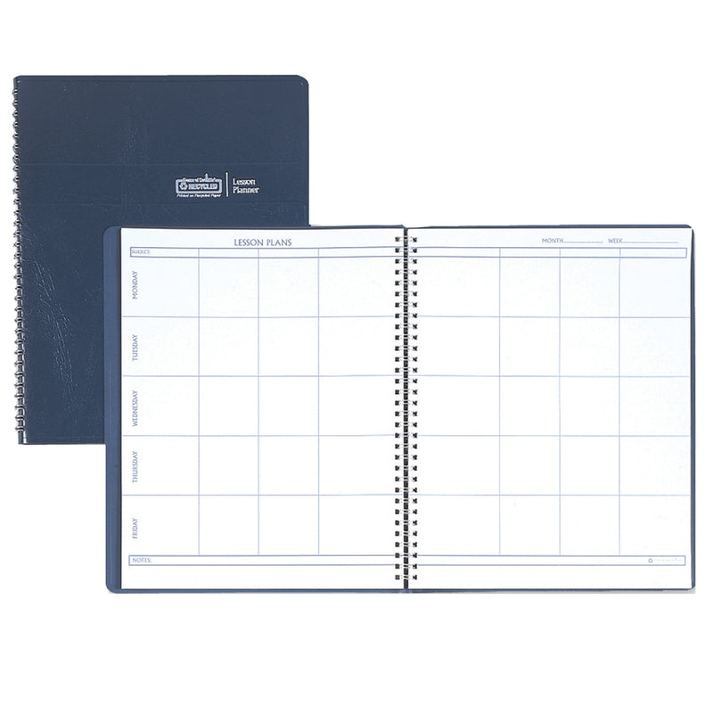 Weekly Lesson Planner Blue Simulated Leather Cover
