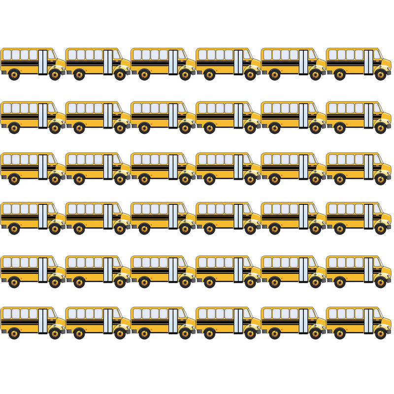 (6 Pk) School Bus Die Cut Border