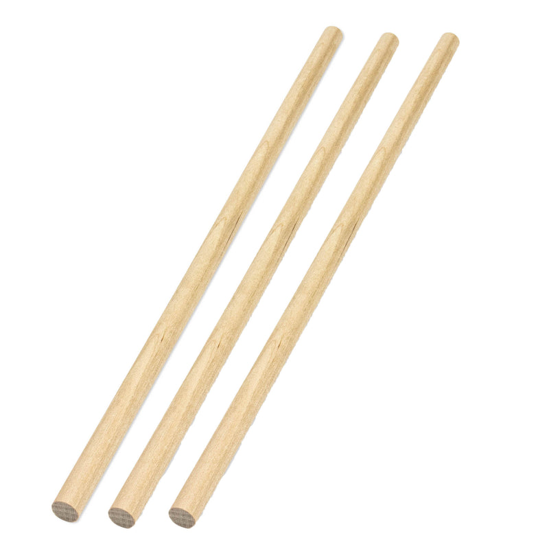 (3 Pk) Wood Dowels 3-8in 25 Pieces