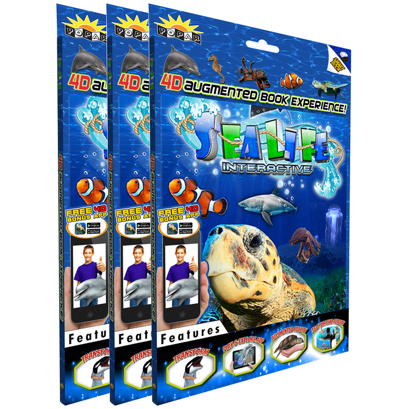 (3 Ea) Sea Life Interactive Smart Book