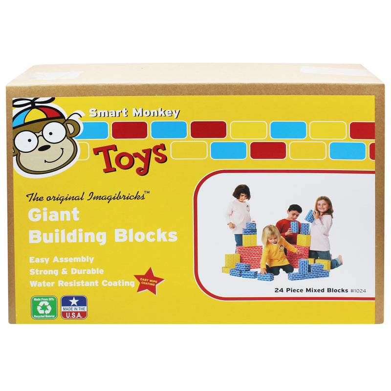 Imagibricks Giant Building 24pc Set Blocks