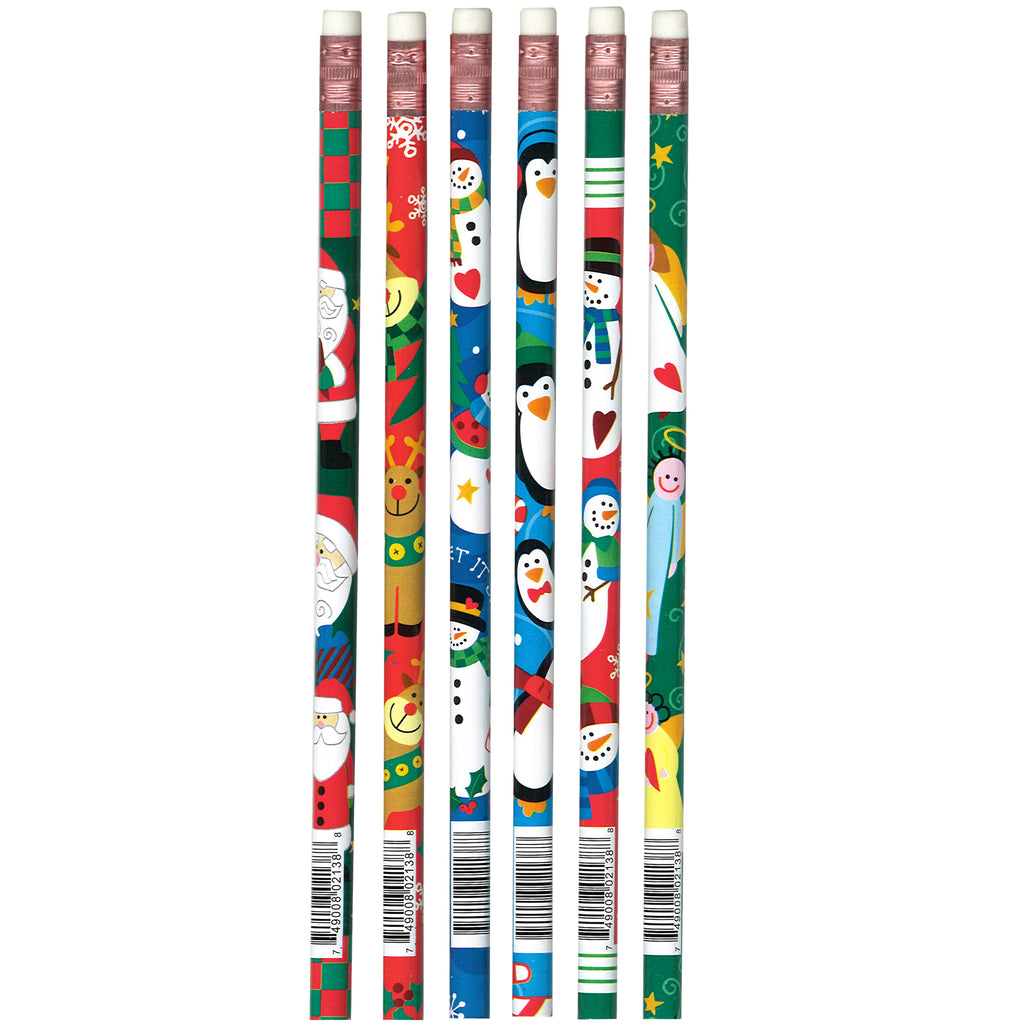 (12 Dz) Pencils Christmas Assorted 12 Per Pk