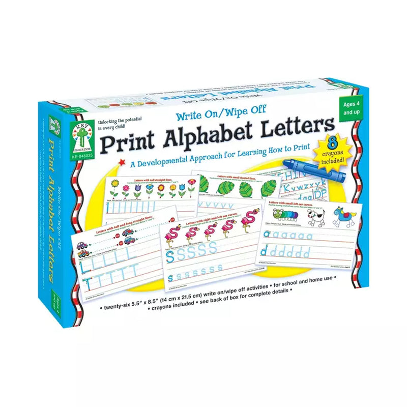 (2 Ea) Write On-wipe Off Print Alphabet Letters