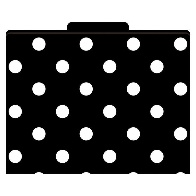 (3 Pk) File Folders Black & White Dots Functional File Folders