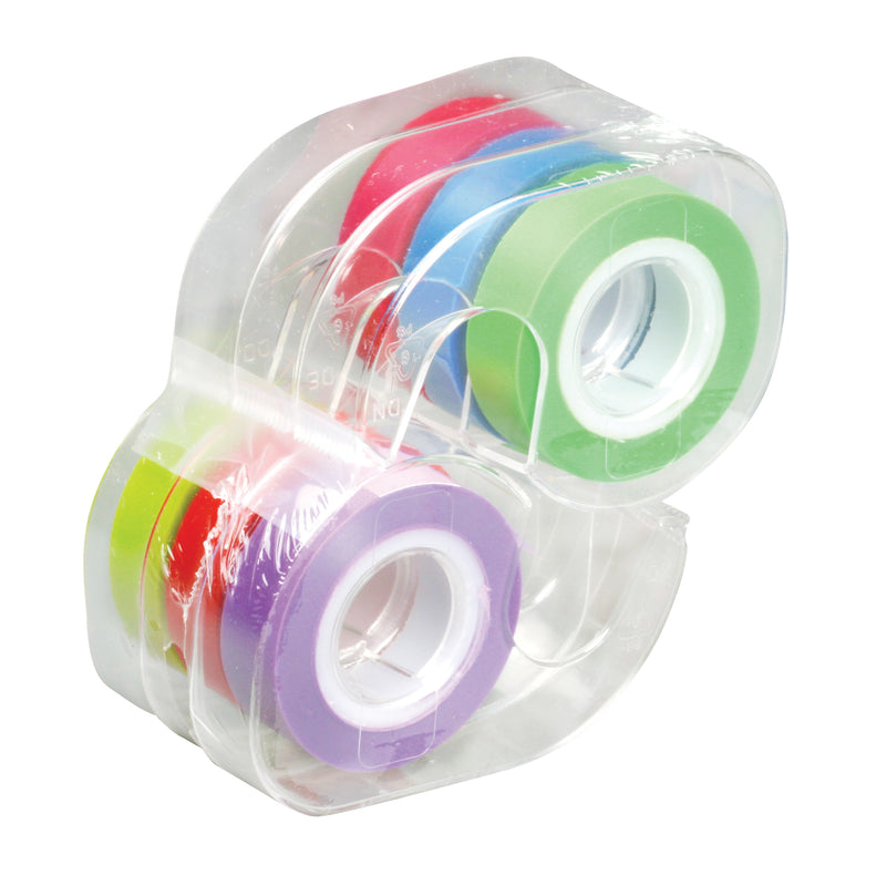 Removable Highlighter Tape 6 Rolls Standard Colors .5 X 720in