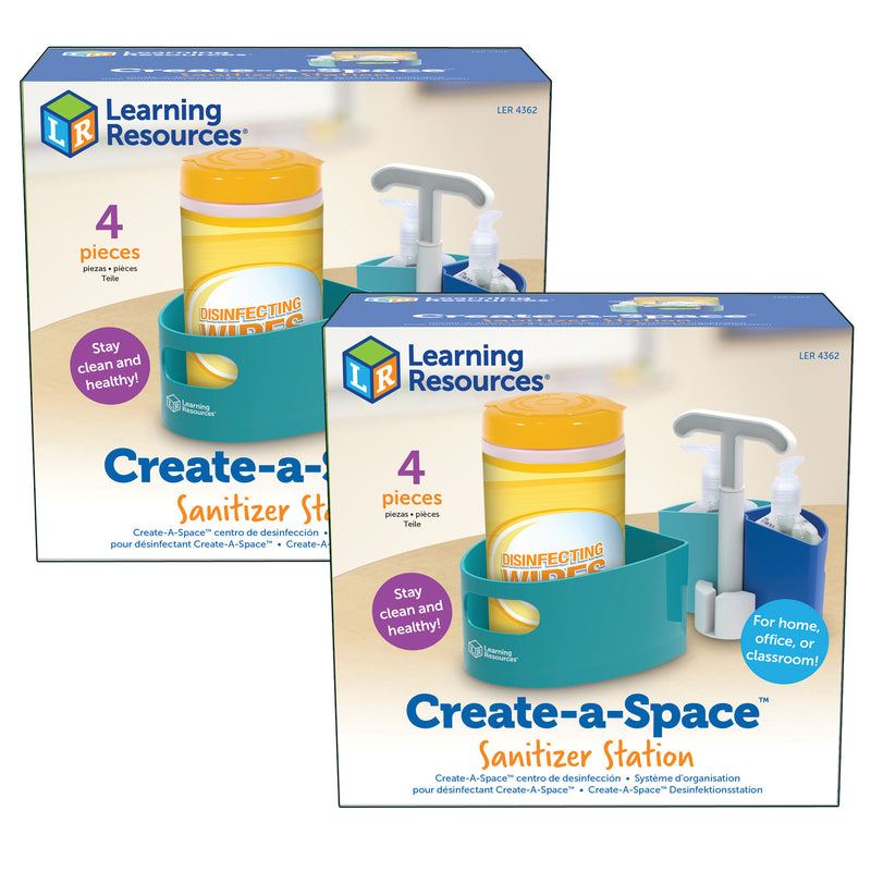 (2 Ea) Create-a-space Sanitizer Station