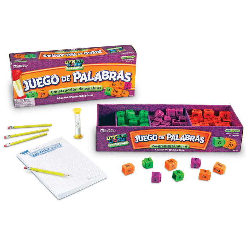Juego De Palabras A Spanish Reading Rod Word Game