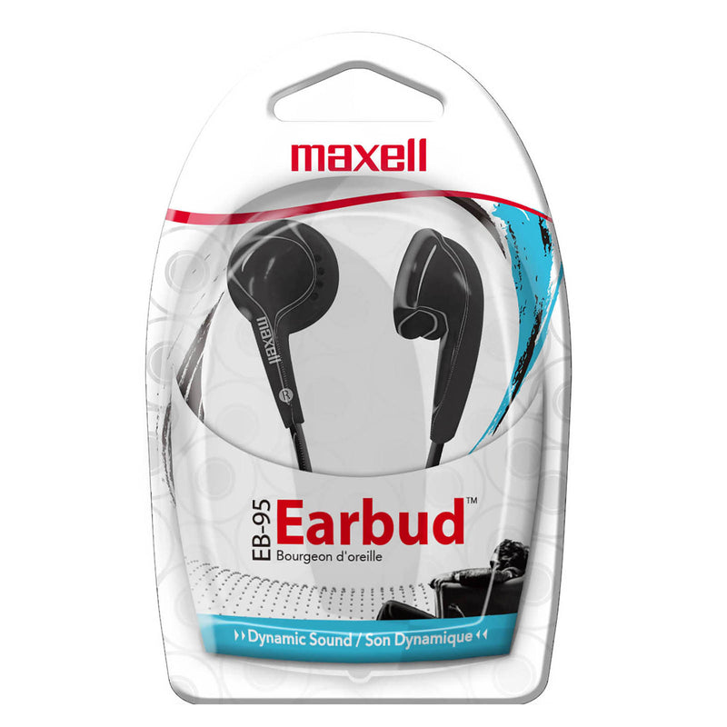 Maxell Budget Stereo Earbuds Black