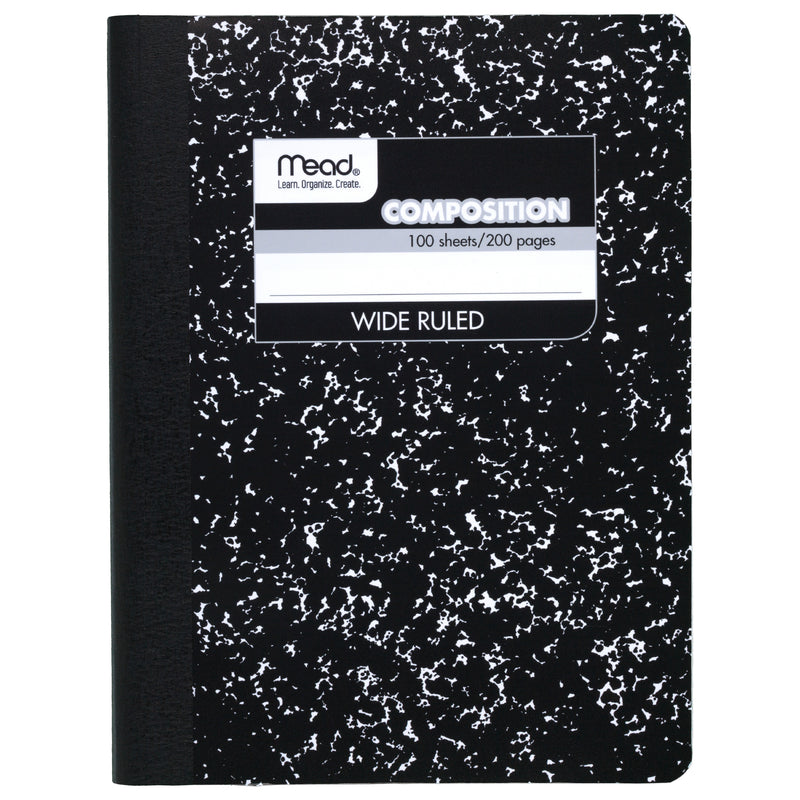(3 Ea) Notebook Composition 100sht 9.75x7.5