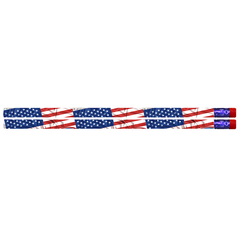 (12 Pk) Flags & Fireworks Pencil Pk Of 12