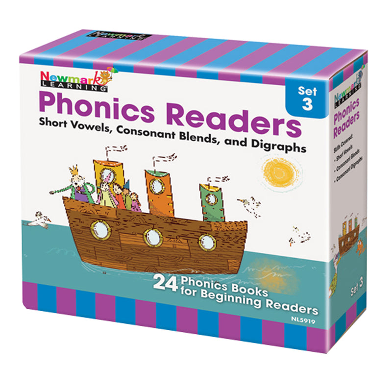 Phonics Boxed Readers Set 3 Short Vowels Blends And Digraphs