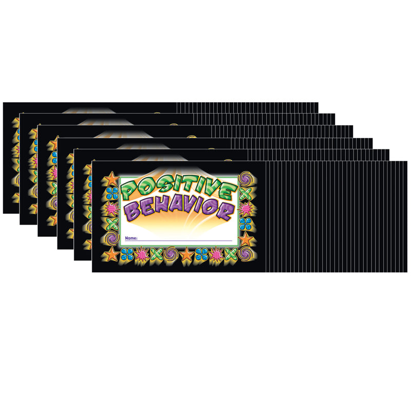 (6 Pk) Incentive Punch Cards Positive Behavior 36 Per Pk
