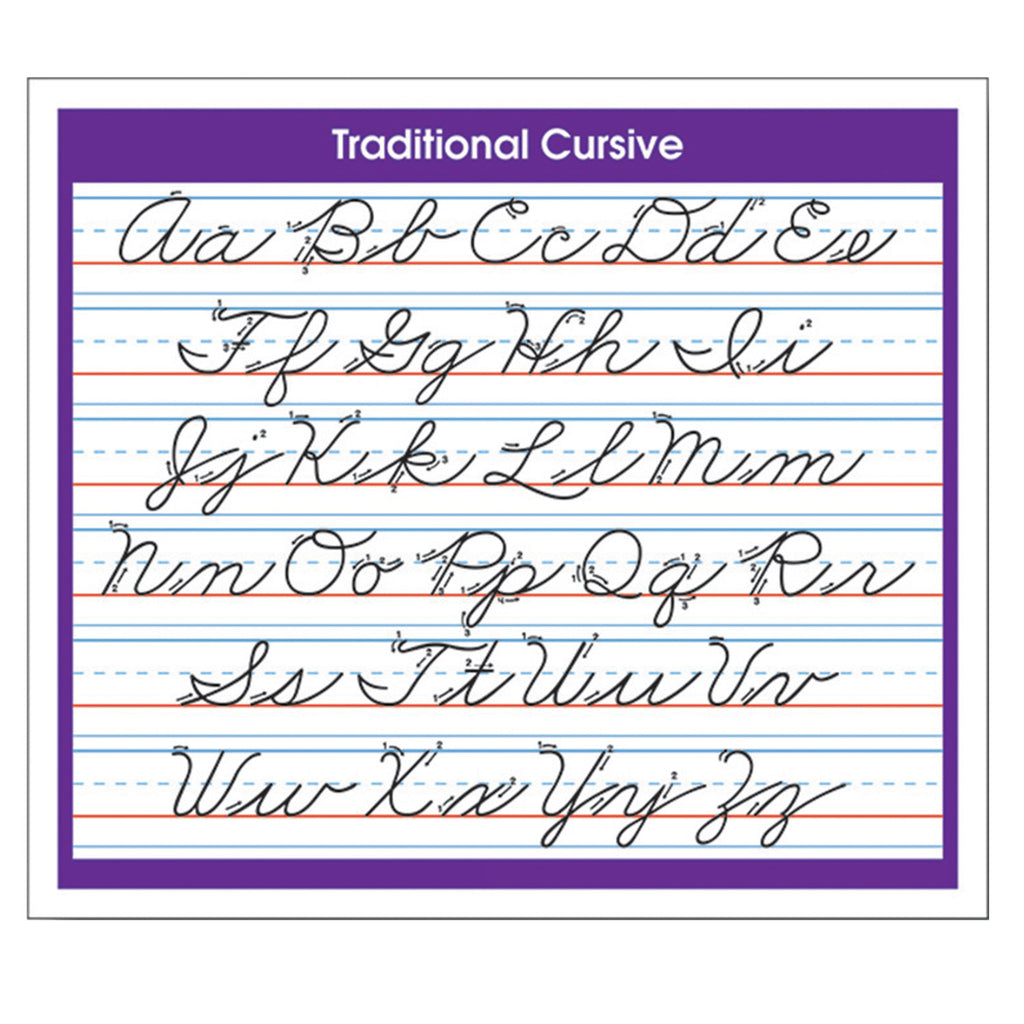 (6 Pk) Desk Prompts Traditional Cursive Adhesive