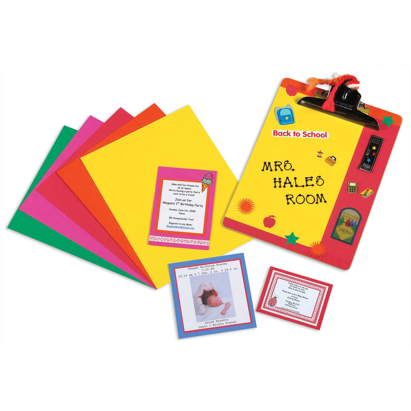 (2 Pk) Array Card Stock Brights Asst Colors 100 Sht Per Pk