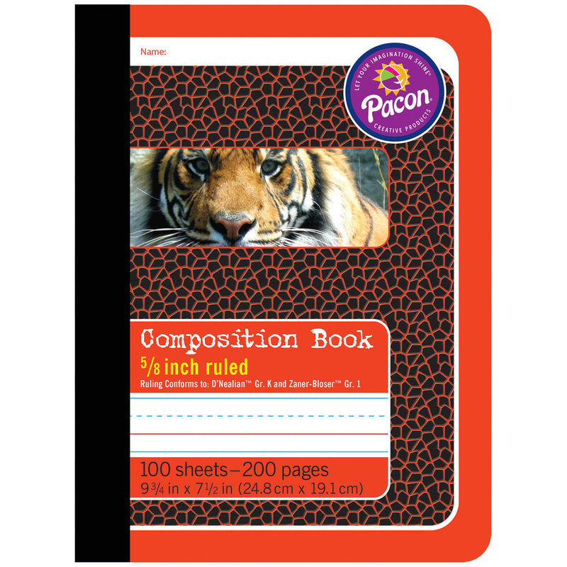 (6 Ea) Composition Book 5-8in Ruled