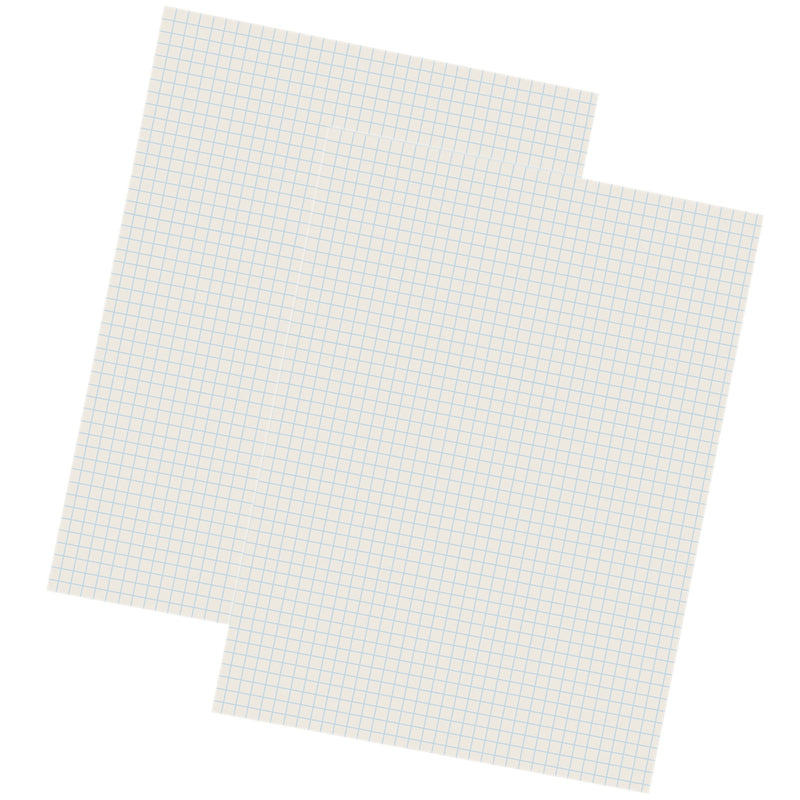 (2 Pk) Grid Ruled Drwng Paper Wht 500 Shts