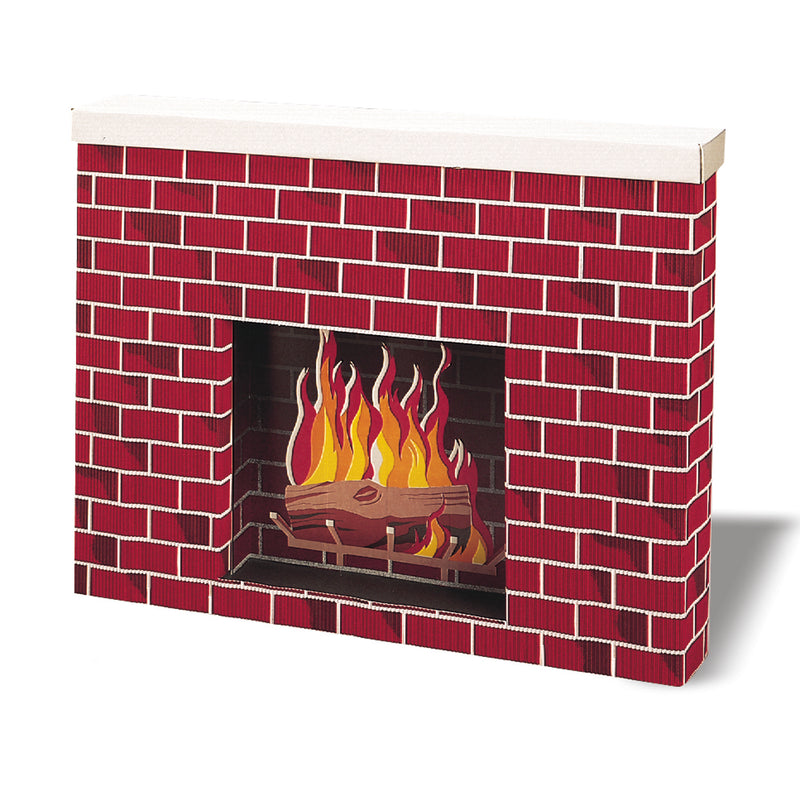 Corrugated Fireplace 38x7x30