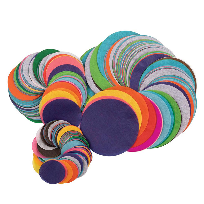 Art Tissue Circles Assrtmnt 2250pcs 25 Asst Colors