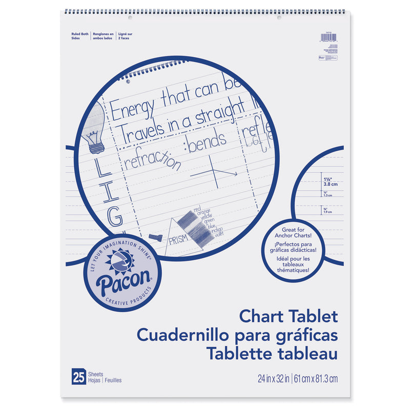 Chart Tablet 24x32 1-1-2 In Ruled 25 Sht