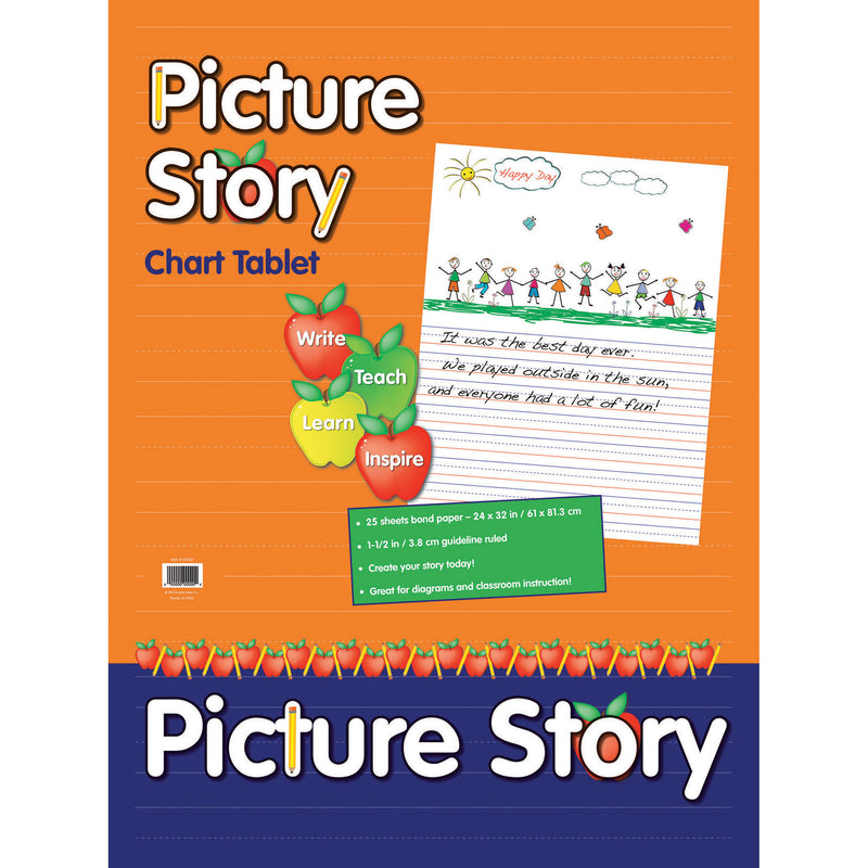 (2 Ea) Chart Tablet 24x32 1.5in Ruled Picure Story