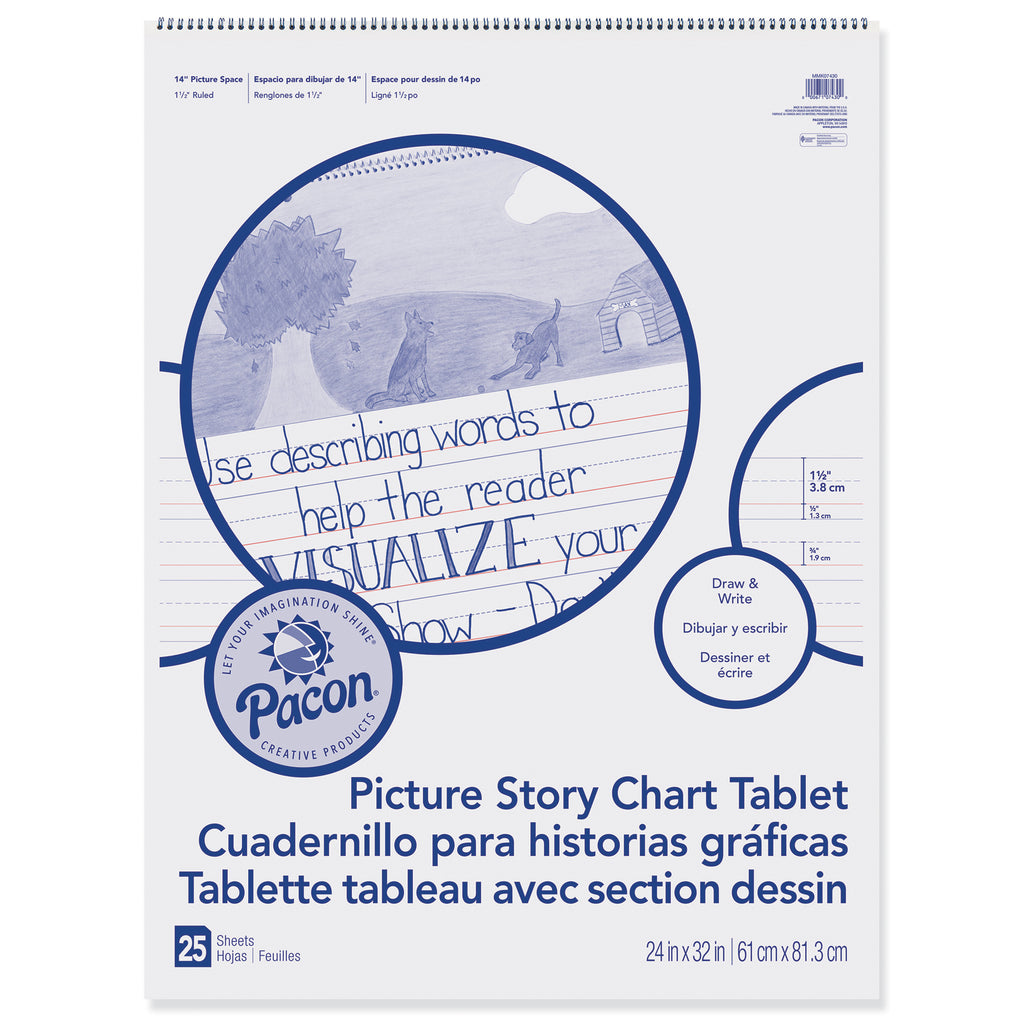 Chart Tablet 24x32 1.5in Ruled Picure Story