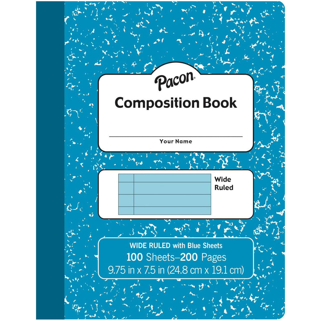Pastel Blue Composition Book Wide Ruled