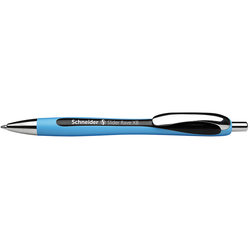 Schneider Black Slider Rave Xb Retractable Ballpoint Pen