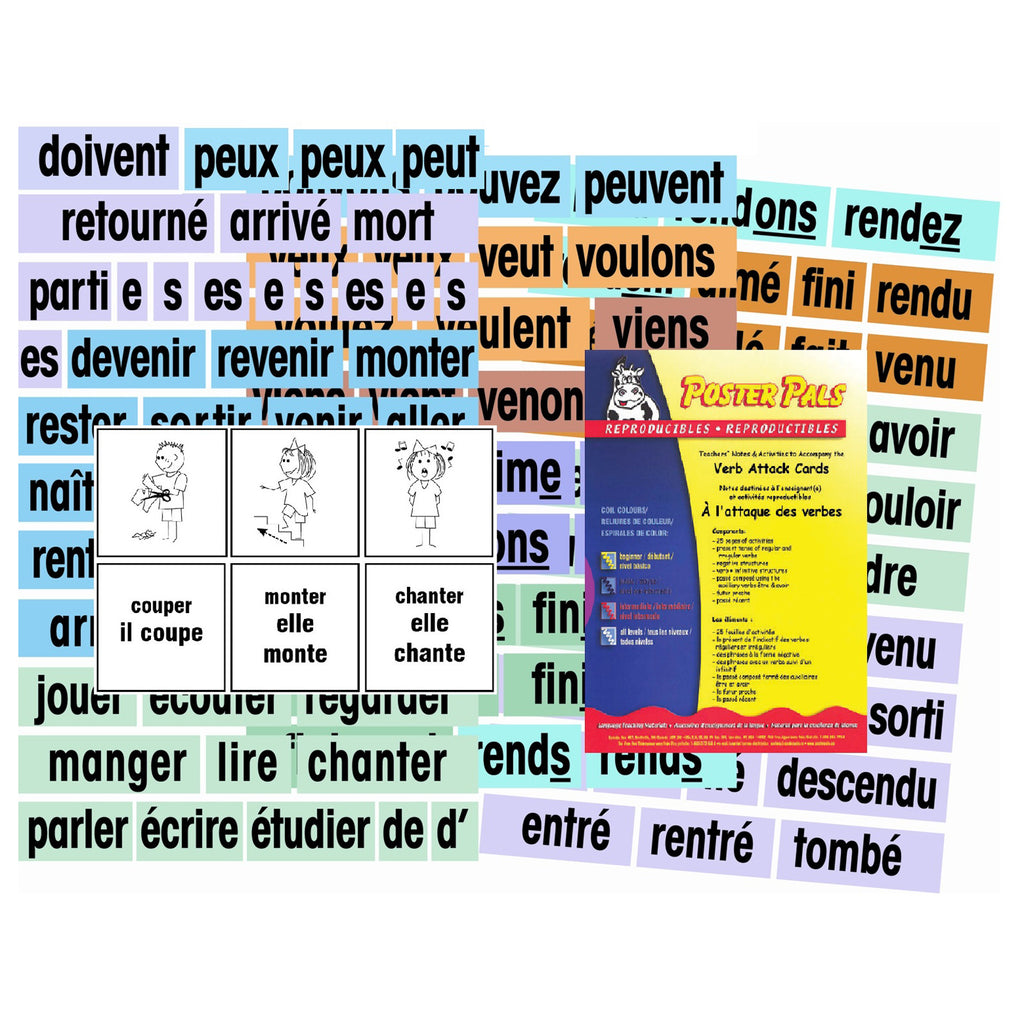 Verb Attack Card Set French