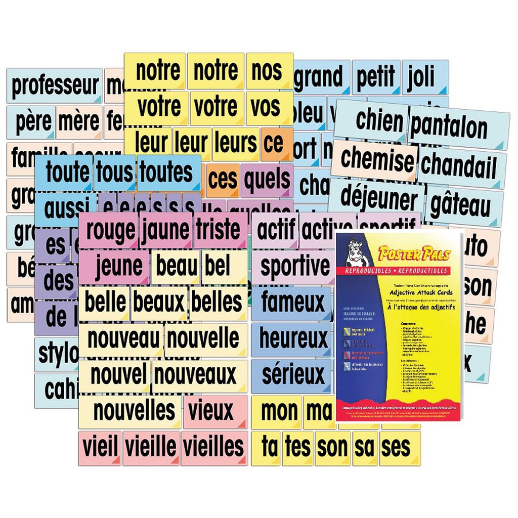Adjective Attack Card Set French