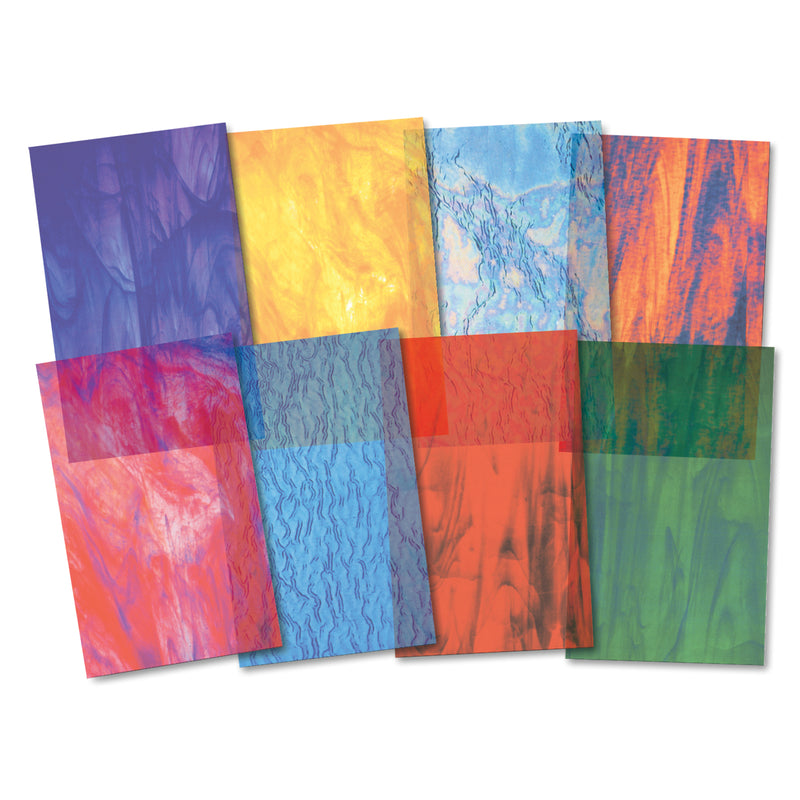 (3 Pk) Stained Glassine Paper