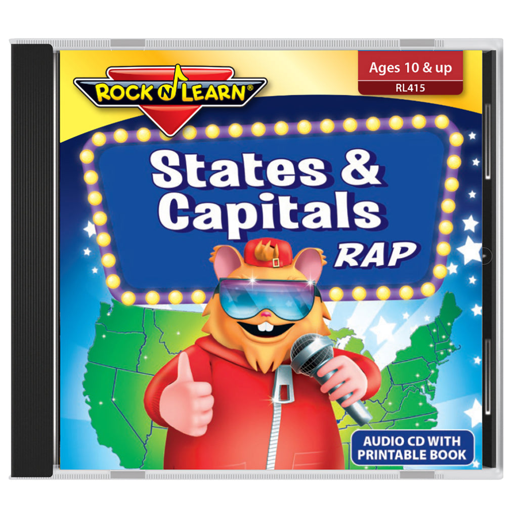 States & Capitals Rap Audio Cd & Printable Book