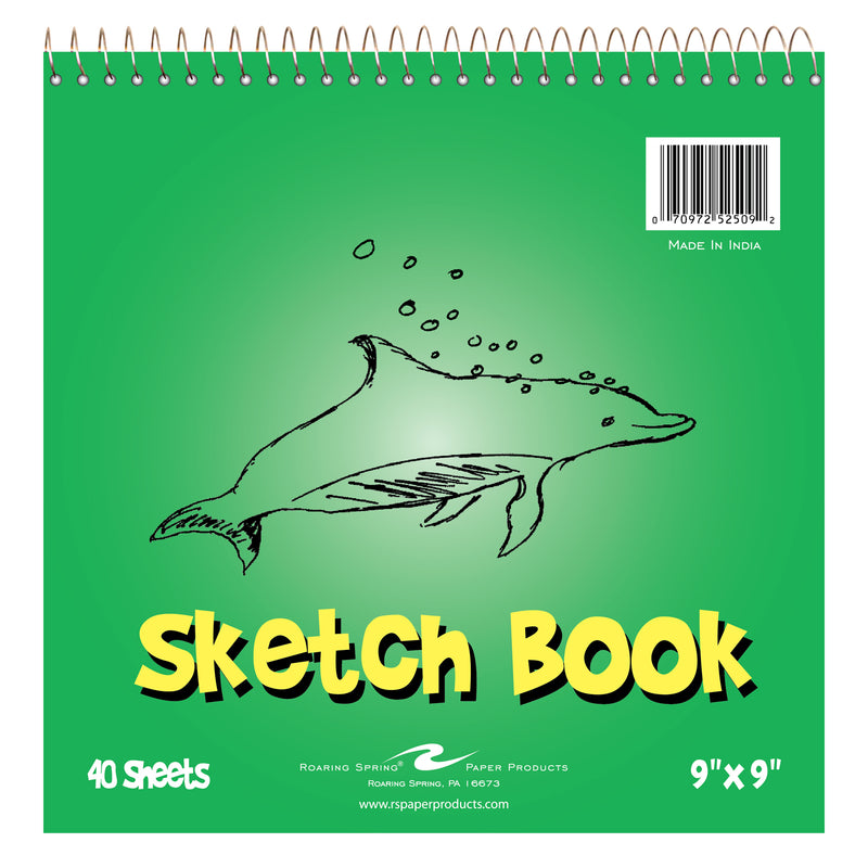 Kids Sketch Book 9x9 40 Sheets