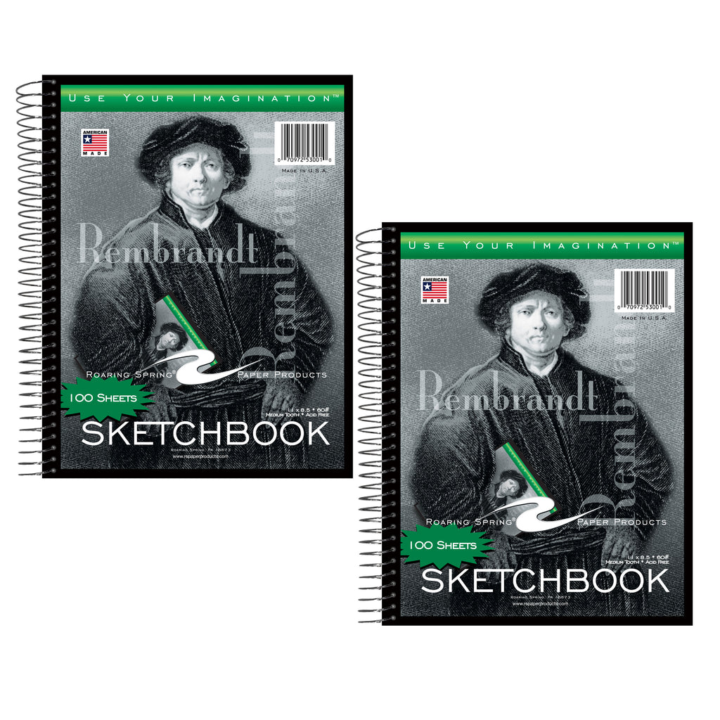 (2 Ea) Sketchbook 11x8-1-2 100 Sheets
