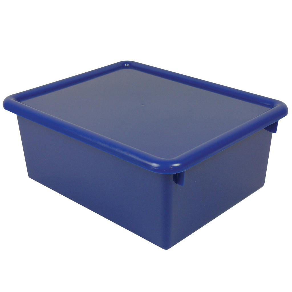 (2 Ea) Stowaway Blue Letter Box With Lid 13-1-2 X 10-3-4 X 5-3-8