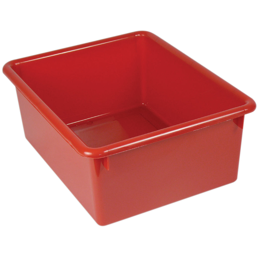 (4 Ea) Stowaway Letter Box Red No Lid 13-1-8 X 10-1-2 X 5-1-4