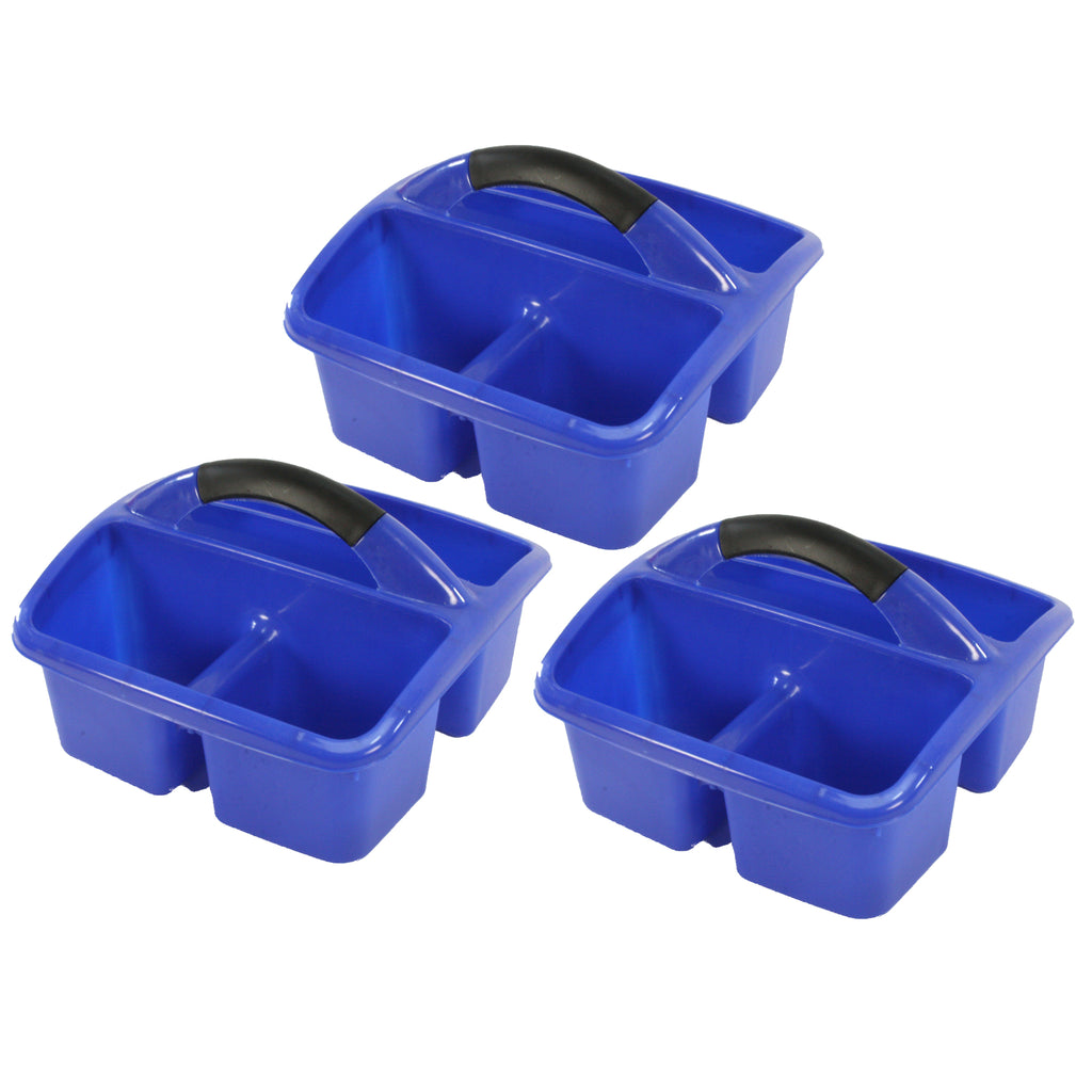 (3 Ea) Deluxe Small Utility Caddy Blue