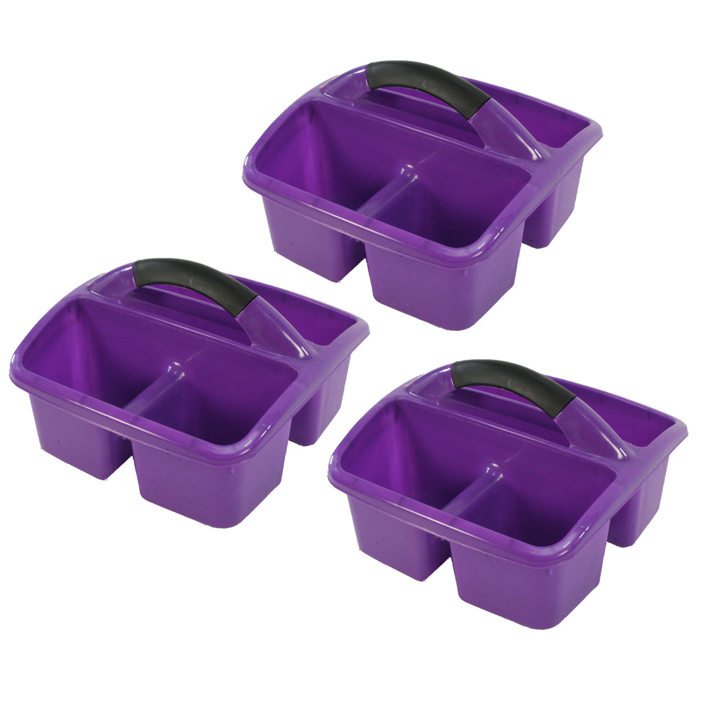 (3 Ea) Deluxe Small Utility Caddy Purple