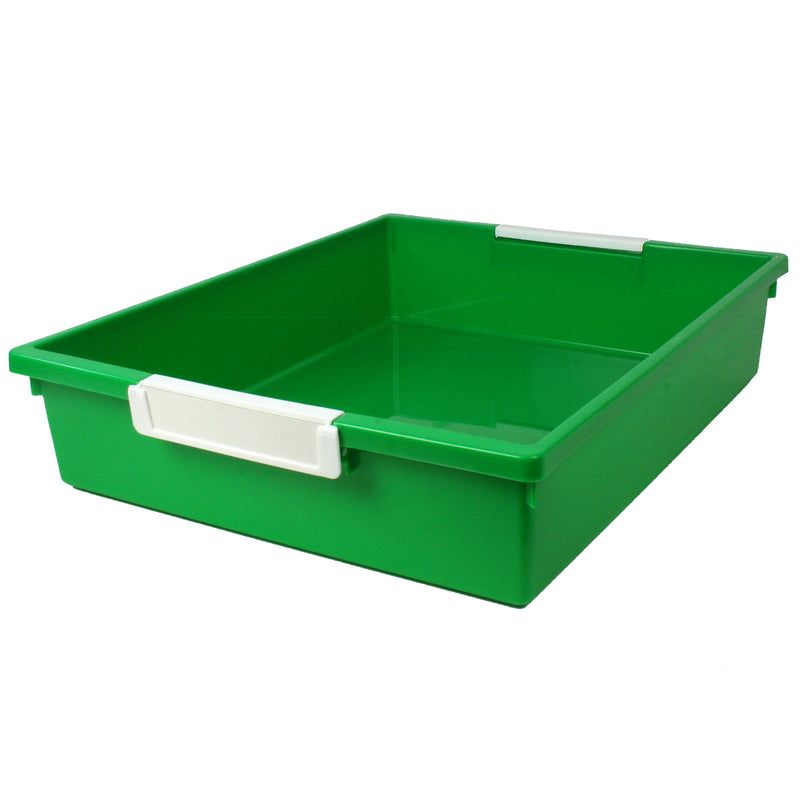 6 Qt Green Tattle Tray W Label Hold