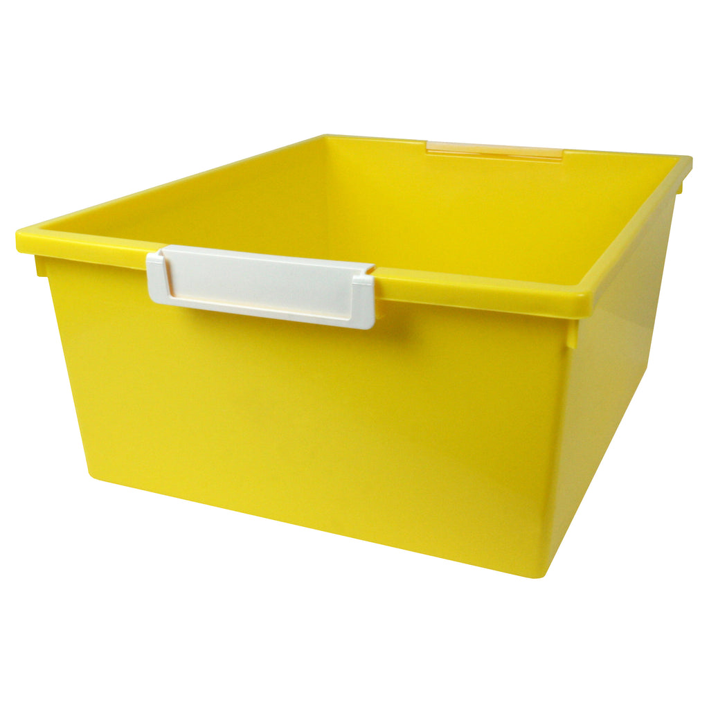 (3 Ea) 12qt Yellow Tray W Label Hold