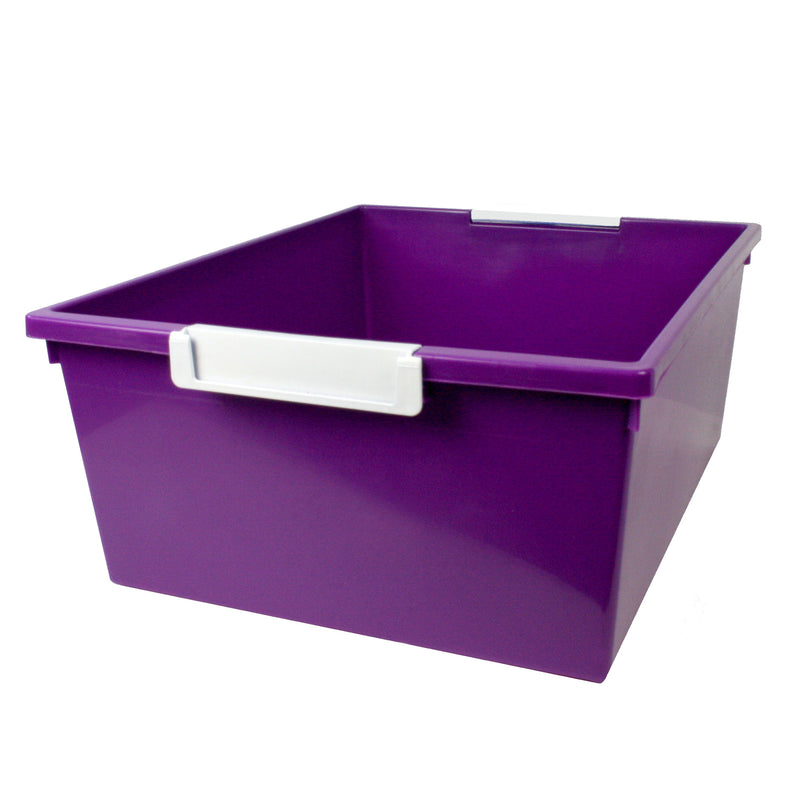 (3 Ea) 12qt Purple Tray W Label Hold